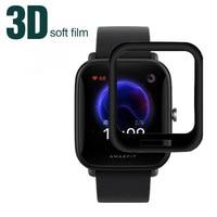 Funda protectora para reloj inteligente Huami Amazfit Bip U Pro / Bip U, Protector de pantalla completa, 3D, borde curvo suave de fibra de vidrio