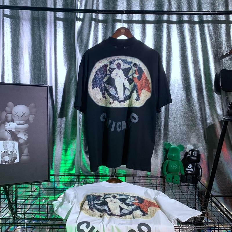 Jesus Is King Chicago blessing oil 3D Letter painting T-shirt  6