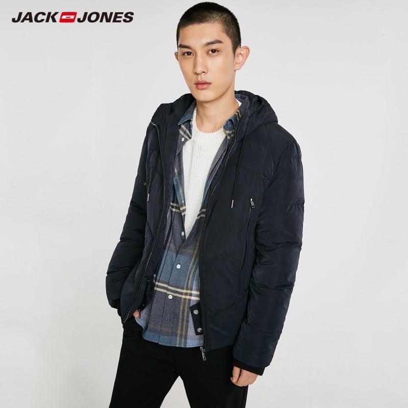 JackJones Men's Hooded Down Jacket Short Coat Menswear 218412525