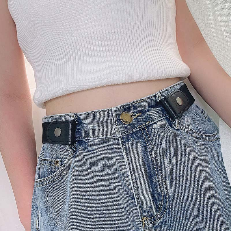 Stretch Elastic Invisible Women Men Belt No Buckle Buckle-Free Waist Strap No Hassle No trace  Jeans Pants Waistband