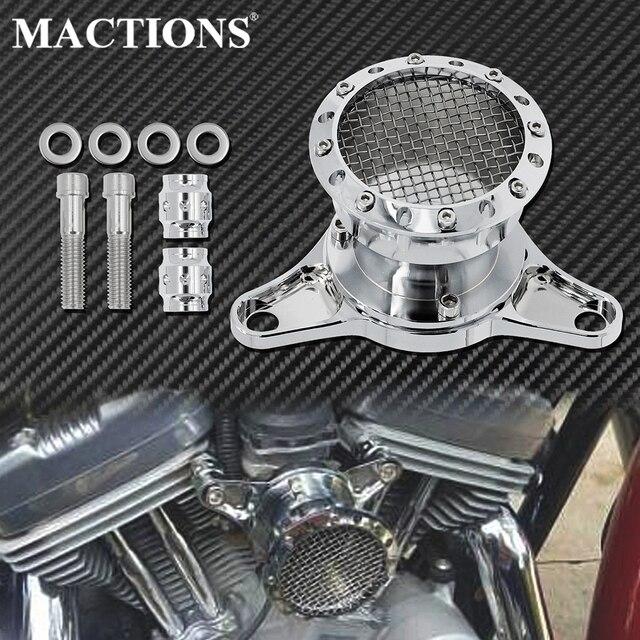 Motorrad CNC Geschwindigkeit Stapel Luft Reiniger Intake Filter Chrom Aluminium Passend Für Harley Sportster Eisen XL883 XL1200 Benutzerdefinierte