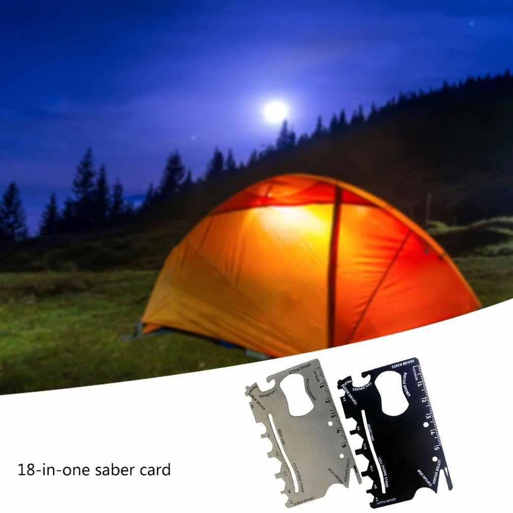Stal nierdzewna o wysokiej twardości Ninja Saber portfel na karty Outdoor Camping awaryjne przetrwanie wielofunkcyjny klucz kombinowany