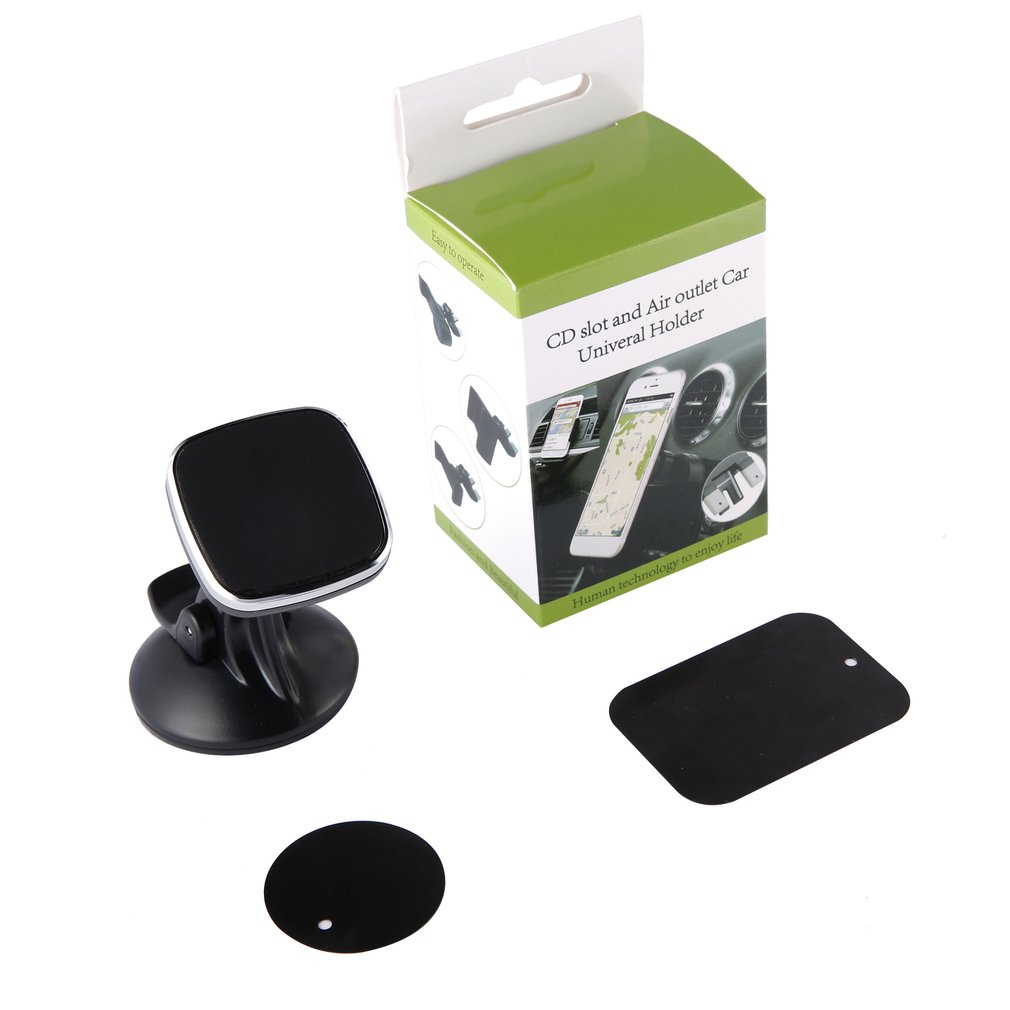Easy To Operate Dashboard Mount Dashboard And Windshield Magnetic Universal Car Mount Holder For Smartphones Black