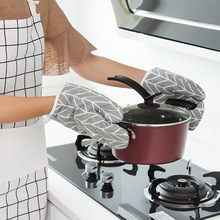 Nordic Kitchen Oven Mitts Cooking Baking Gloves Creative Oven Cooking Mitten Insulated Non-slip High Household Microwave Glove leshp 1pc microwave oven gloves high temperature resistance non slip oven mitts heat insulation kitchen cooking grilling gloves