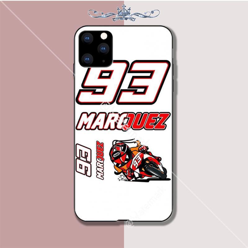 Marc Marquez Moto Gp 93 Luxry case coque fundas for iphone 5s se 6 6s 7 8 plus x xs max xr 11 pro max cases cover
