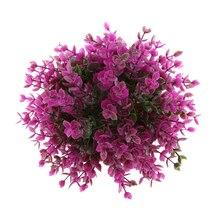 19 см Искусственный эвкалипт шар открытый топиарный завод Буш патио дерево фиолетовый