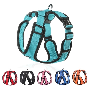 Dog Harness for Small Medium Dogs Breathable No Pull Reflective Dogs Harness Puppy Vest for Pug French Bulldog Walking Training