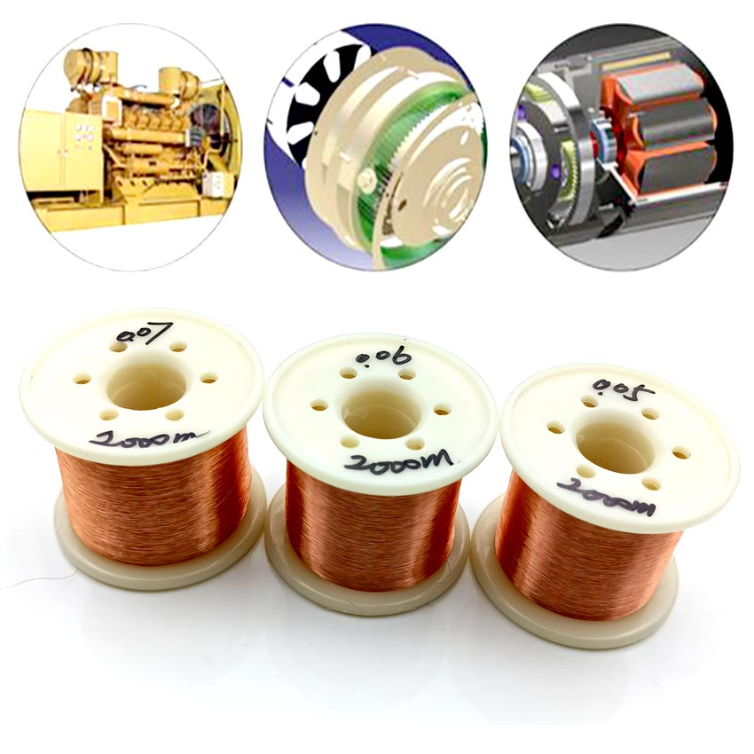 Купить с кэшбэком QA-1/155 2000m 2000M/roll 0.05mm 0.06 0.07mm Diameter Thin Copper Wire DIY Rotor Enamelled Wire Electromagnet Technology Making