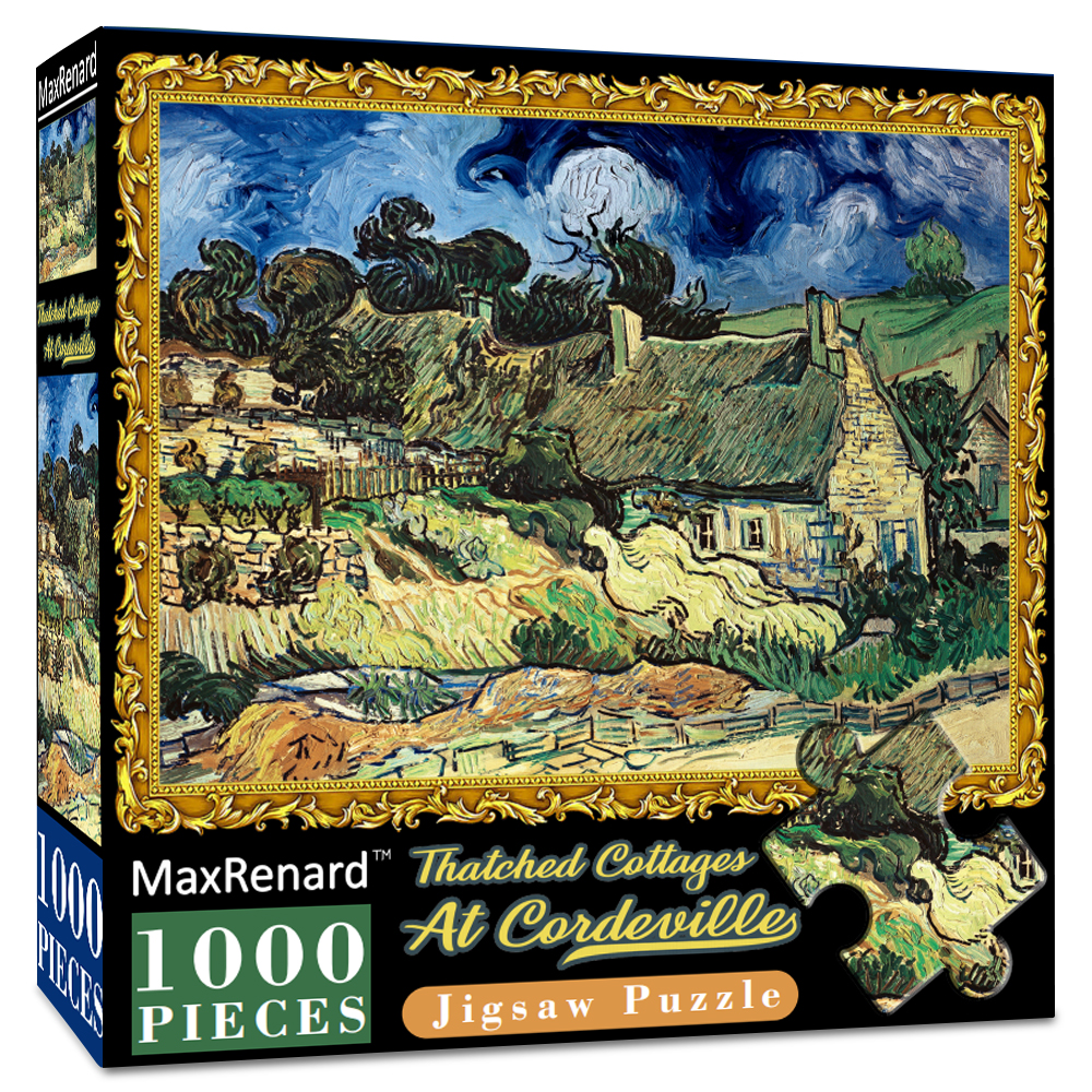 MaxRenard Jigsaw Puzzles 1000 Pieces 50*70cm The Kiss Wooden Assembling Painting World Masterpiece Puzzles Toys for Adults Games 20