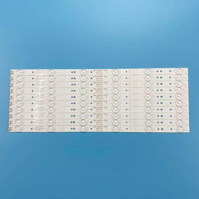 Nuevo Kit 10 Uds 6LED 480mm tira de LED para iluminación trasera para LC490DUJ SHA2 5800 W49001 1P00 5800 W49001 2P00 0P00 DP00 5850 W50007 1P00