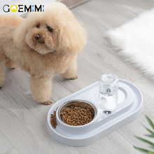 Dog Cat Food Bowl with Water Bottle Puppy Kitten Automatic Dispenser Feeder Pet Double Not Wet Mouth