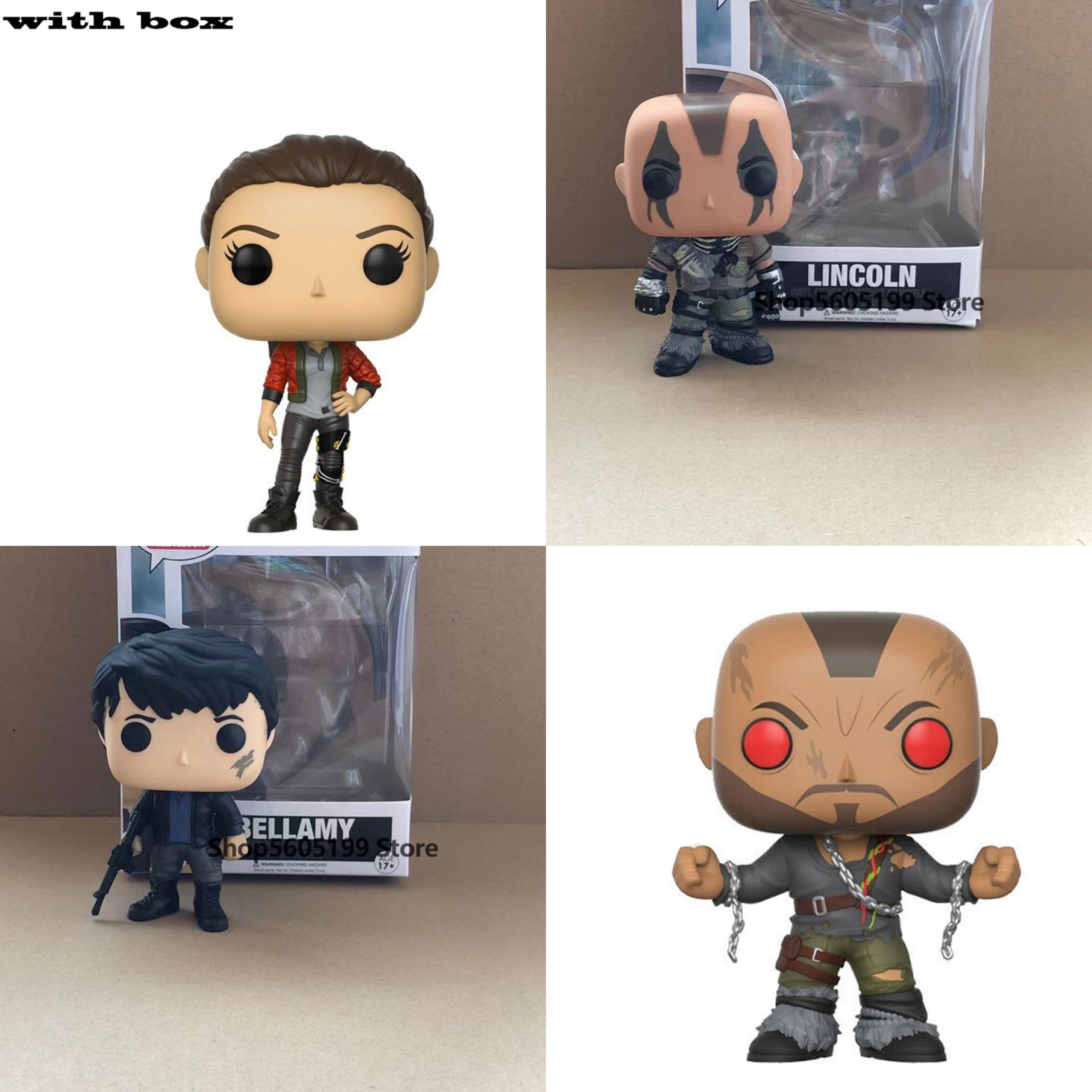 POP The 100 RAVEN BELLAMY  Lincoln as Reaper with box Vinyl Action Figures brinquedos Collection Model Toys for Children gift