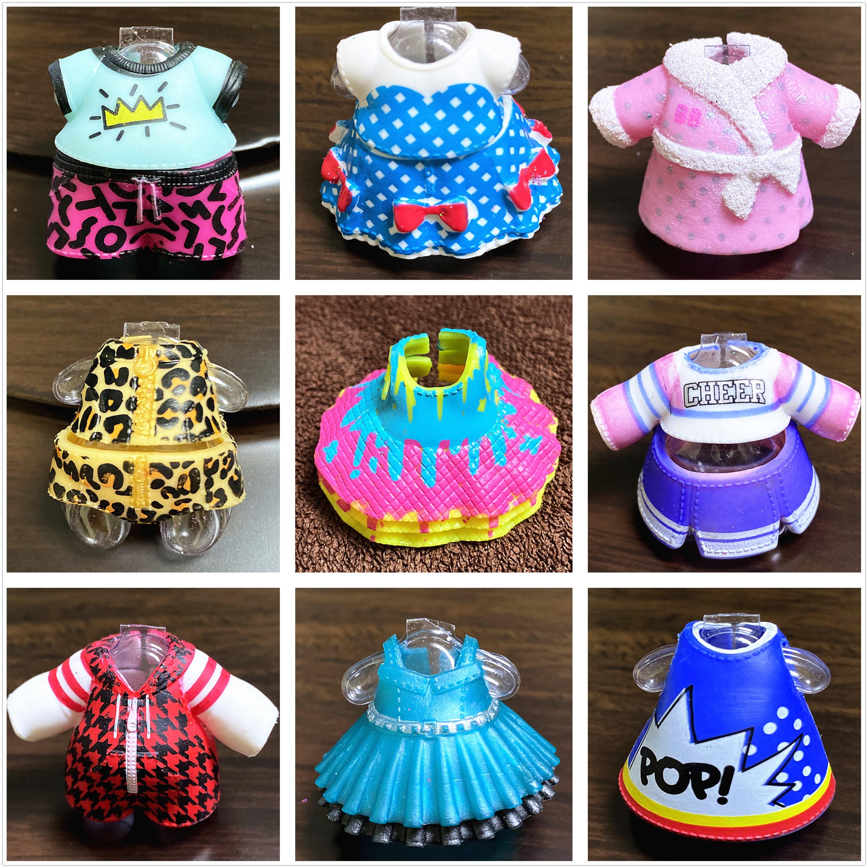 Para muñecas Lens 8cm Big Sister, ropa de vestir Original, trajes para niños, juguetes para niñas, regalo de cumpleaños, venta al por menor, 1 pieza puede elegir accesorio de muñeca