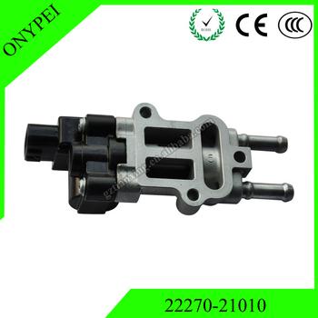 OE #22270-21010 22270-21011 zawór regulacji prędkości biegu jałowego dla Toyota Echo Scion xA xB 1 5L L4 2227021010 2227021011 tanie i dobre opinie ONYPEI Standard Idle air control valve for Toyota 1 Year