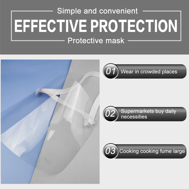 In stock Adult Transparent Mask Film Anti-fog Mask Sheet Environmental Protection Isolation Mask Protective Face Screen 4