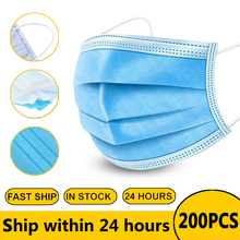 Surgical Disposable Face Mouth Masks Anti PM2.5 Medical Masks Anti Mask Non-woven Masks Face 3 Layers  Earloop Mask