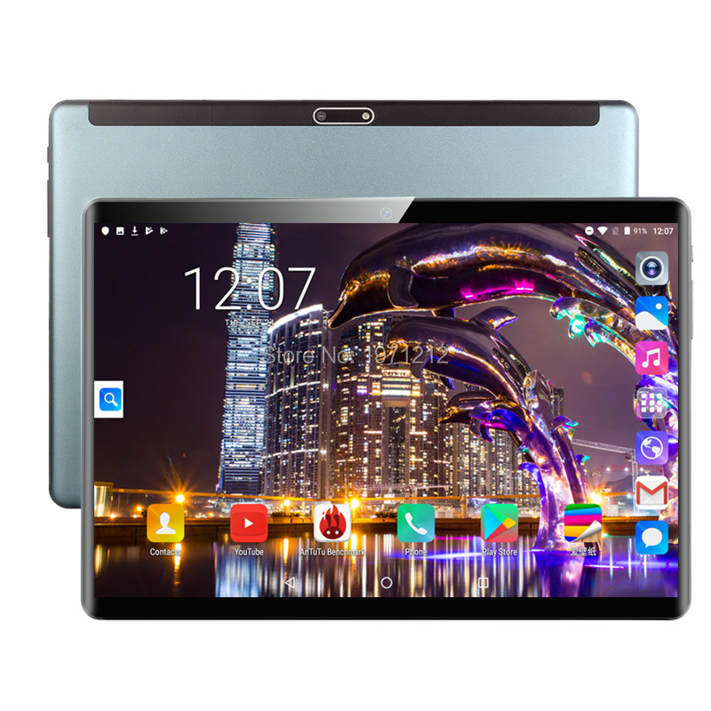 Newest 10 Inch Tablet Android 9.0 Octa Core 6GB RAM 64GB ROM 3G 4G FDD LTE Wifi Bluetooth GPS Phone Call Glass Screen Tablet Pc