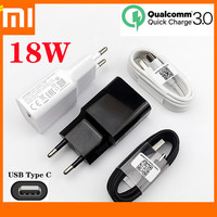 La UE original Xiaomi Mi 9 SE cargador rápido 18W adaptador de corriente USB Cable de tipo C para Mi 9T Pro Max 3 A2 A3 mezclar 3 Redmi Note 8 Pro