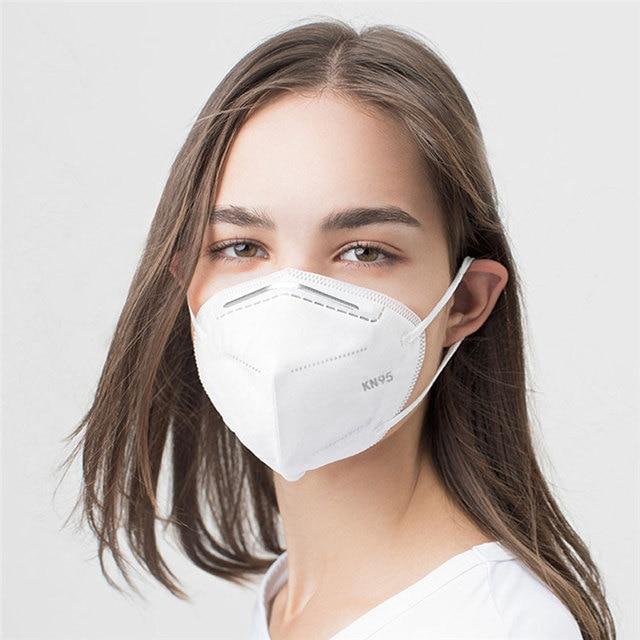 50 PCS N95 Masks 6-Layer of Protection FFP3 Maskin KN95 Respirator Antivirus Reusable Face Mouth Mask Virus Flu Precaution 1