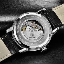BENYAR Watch Men Fashion Casual Sport Mechanical Clock Mens Watches