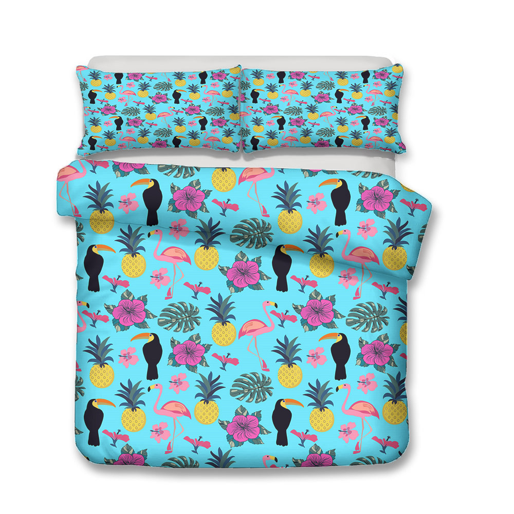 MEI Dream Droll Bird Double Bed Coverlet Botany Blankets and Bedspreads Complete Bedding Sets