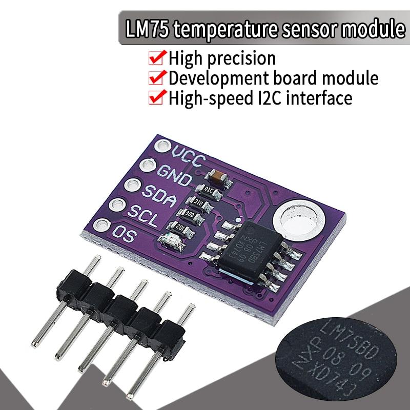 Official LM75 LM75A Temperature Sensor High Speed I2C Interface High Precision Development Board Module