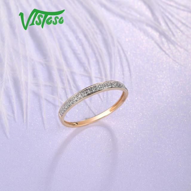 Yellow Gold Sparkling Diamond Minimalistic Ring 3