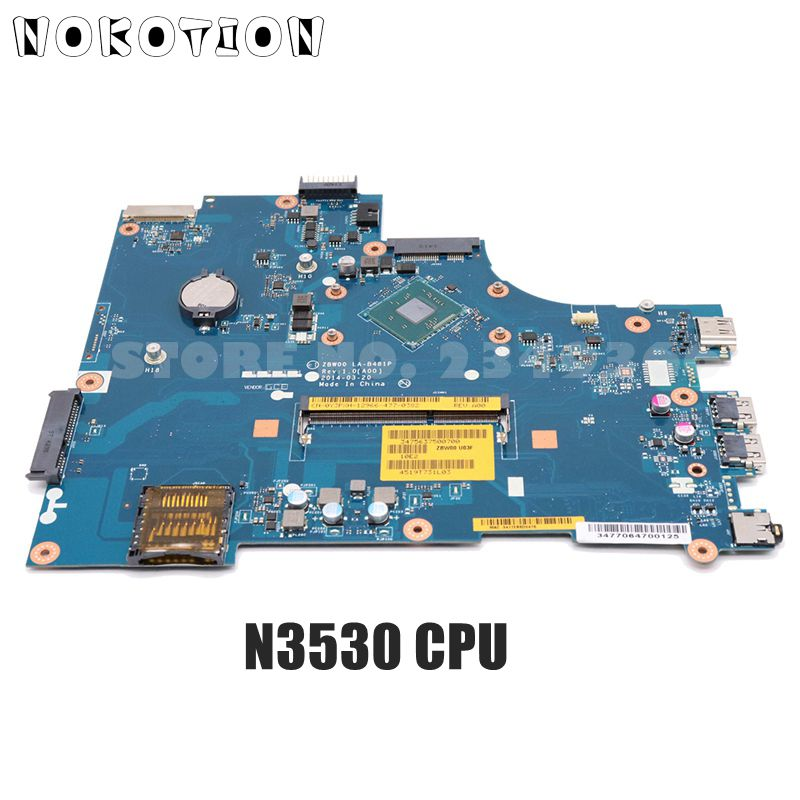 NOKOTION CN-0Y3PXH 0Y3PXH ZBW00 LA-B481P MAIN BOARD For <font><b>Dell</b></font> <font><b>inspiron</b></font> <font><b>15</b></font> <font><b>3531</b></font> Laptop Motherboard N3530 CPU DDR3 image