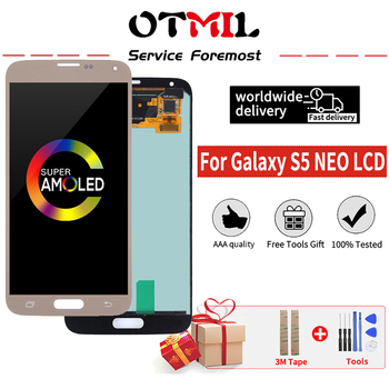 5.1 Orig For SAMSUNG Galaxy S5 NEO G903 LCD Display Touch Screen AMOLED Digitizer For Galaxy S5 NEO LCD Display SM-G903M G903F image