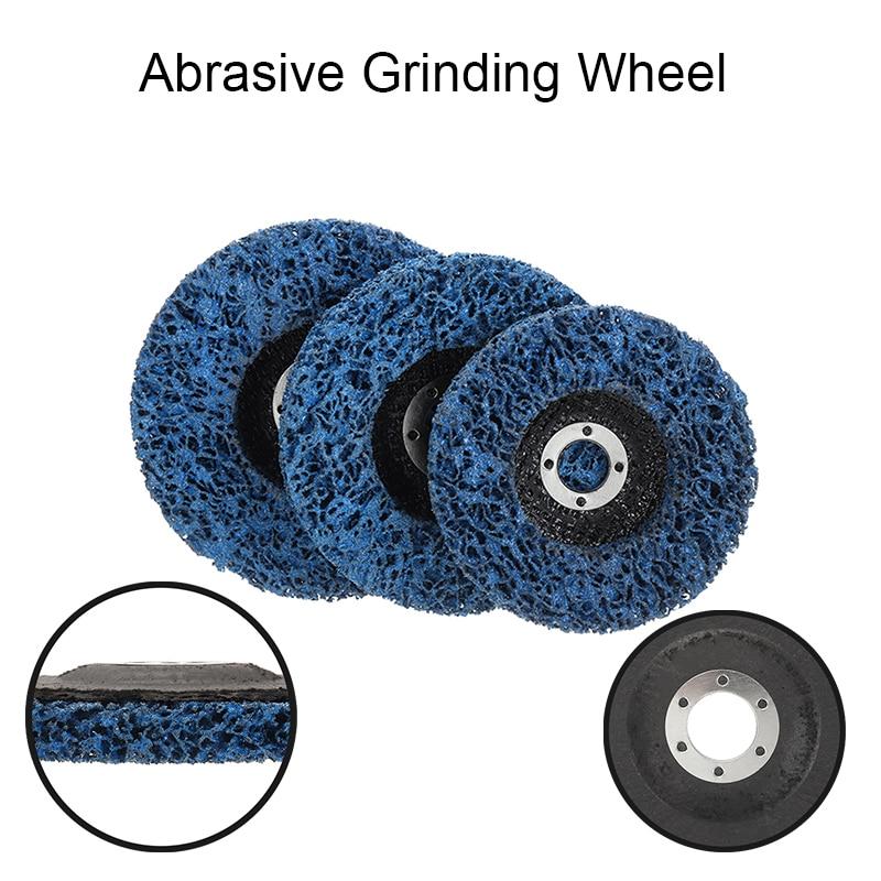 3 pièces 100/115/125mm disque de roue Abrasive Multi meules peinture antirouille propre pour voiture motos meuleuse d'angle Durable