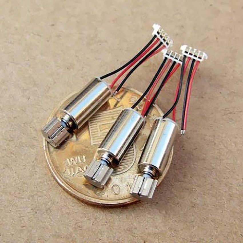 1 pièce cc 2.4-3.7V bricolage 0408 tasse creuse micro précision vibration moteur à courant continu