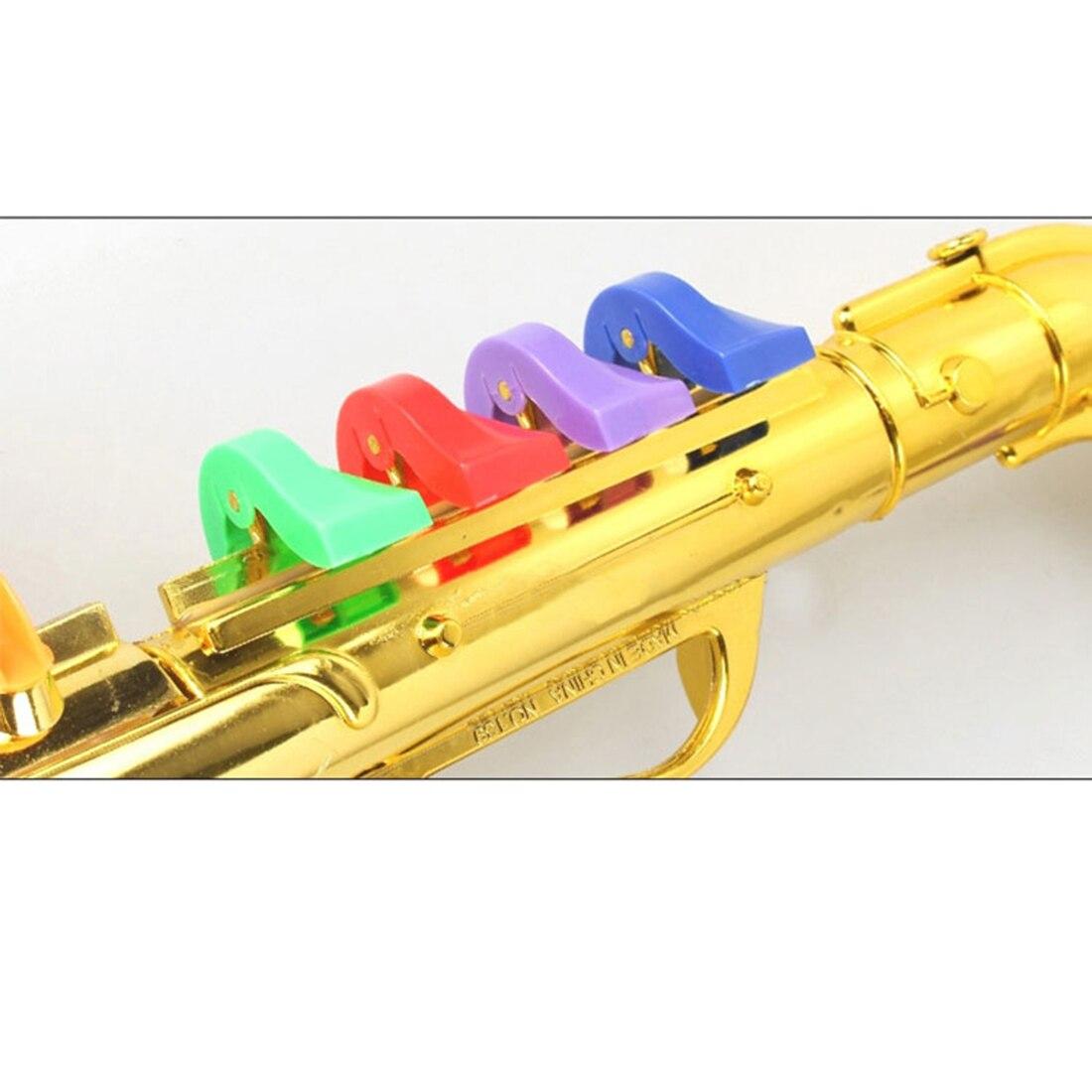 Crianças simulação 8 tons saxofone trompete cedo