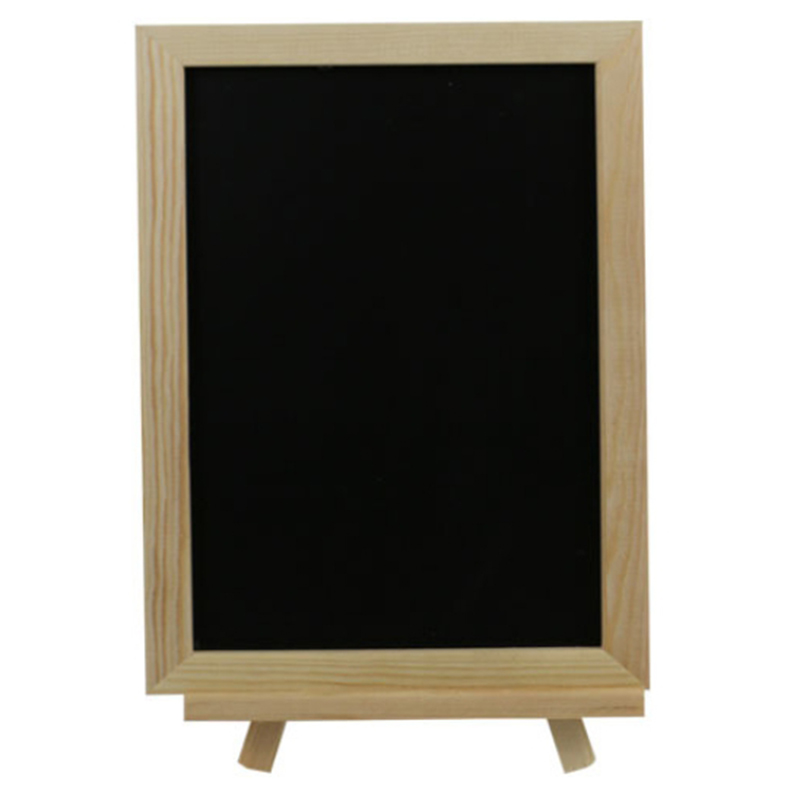 20 X 30 Cm Blackboard, Wooden Easel, Chalkboard, Wedding Chalkboard, Wood Structure, Dry Erase, Message Board, Message Board, Bl