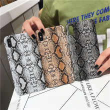 Snake print phone cases for iphone 11 11pro x case pro max xr xs 6 6s 8 7 plus snake skin python matte hard cover