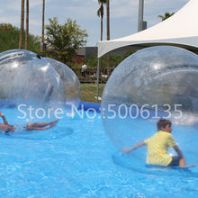 2019 Inflatable Water Walking Ball Water Rolling Ball Water Balloon Zorb Ball Inflatable Human Hamster Plastic Freeshipping Fede(China)