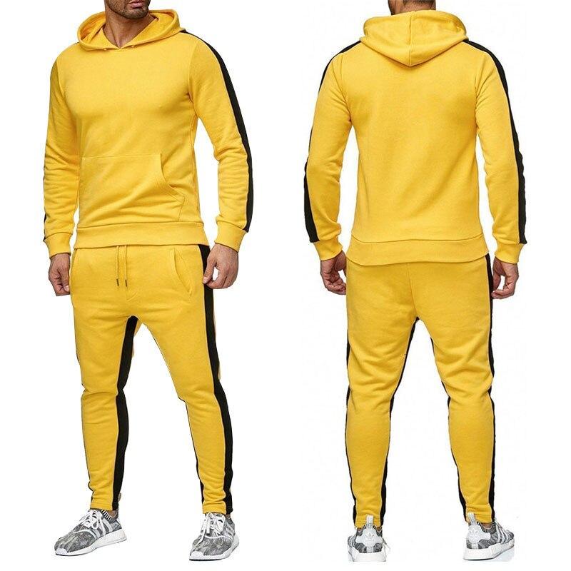 גברים של תרגיל כושר ספורט חליפת ספורט חם homme ריצה חליפות ספורט ללבוש גברים סוודר איטי ריצה בגדי אימונית