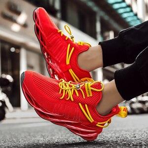 Image 4 - tenis masculino Zapatillas de deporte de lujo para hombre, zapatos informales de entrenamiento, mocasines de moda, zapatillas de correr para hombre
