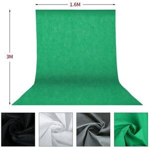 Image 2 - Photo studio kit de iluminação 2x3m sistema de suporte de fundo com 4pcs pano de fundo fotografia led luz softbox guarda chuva tripé suporte
