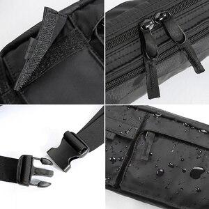 Image 5 - MOYYI su geçirmez Crossbody çanta erkekler rahat omuz çantaları spor kemer göğüs çantası fermuar çok katmanlı sırt çantaları bel paketi