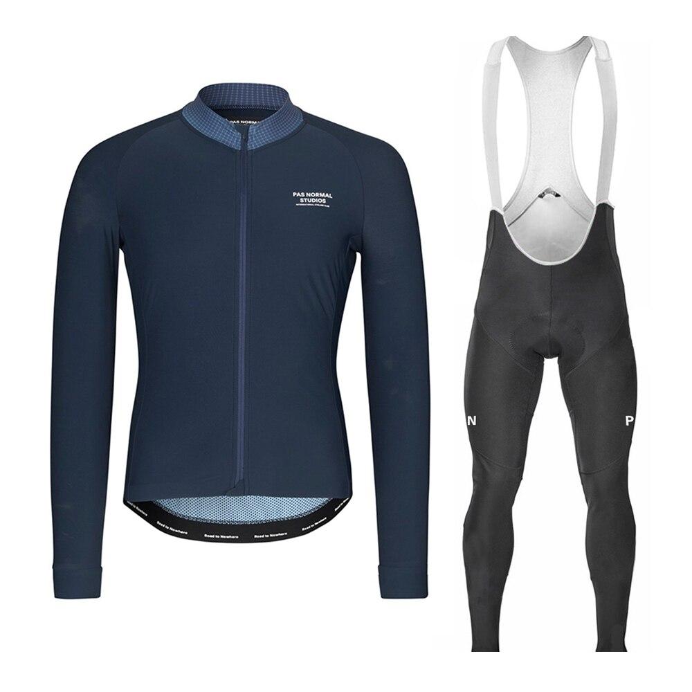 PNS Pro Team printemps/automne manches longues cyclisme maillot ensemble hommes vêtements de vélo vtt vélo maillot bavoir pantalon Kit Ropa Ciclismo Traje