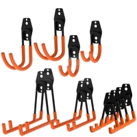 12 Pack Garage Storage Utility Hooks Organizer, Heavy Duty Wall Mount Tool Holder for Organizing Power Tools,Ladders