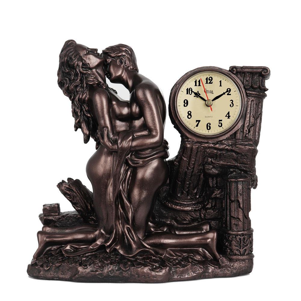 Table Clock Resin Art Work Home Retro Clocks Decor Man Woman Making Love Sculpture Modern Home Decoration Accessories