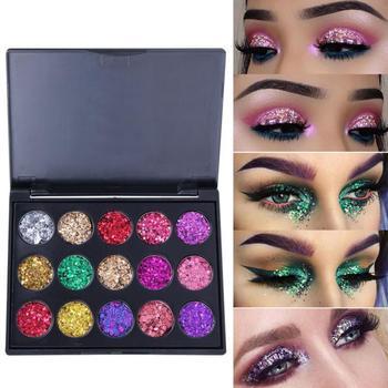 CmaaDu 15 color Sequins Pearl Eyeshadow Pearl Diamond Eye Shadow waterproof Cosmetics eye shadow palettes TSLM1 1
