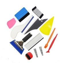 Carbon Fiber Car Tools Vinyl Wrap Film Sticker Wrapping Tool Auto Window Tint Foil Magnetic Stick Squeegee Razor Scraper