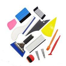 Outil demballage de Film vinylique autocollant, outils de voiture en Fiber de carbone, feuille de teinte de fenêtre automobile, racloir de rasoir à bâton magnétique