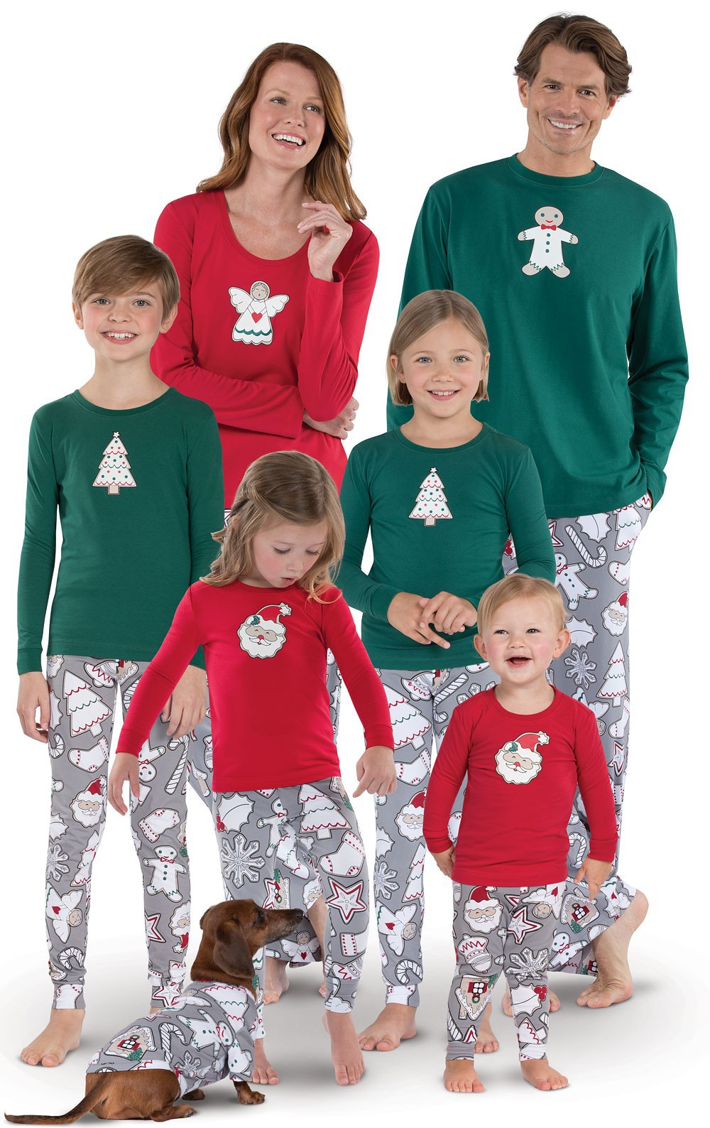 Family Matching Christmas-Pajamas Outfits-Look Daughter/son-Sleepwear Sets Homewear