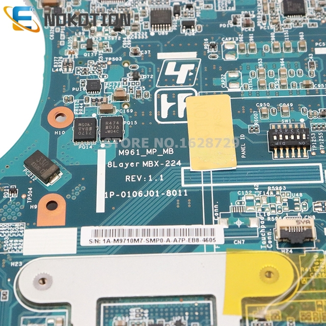 NOKOTION For Sony Vaio VPCEB series laptop motherboard HM55 DDR3 HD4500 Graphics A1794336A MBX-224 M961 1P-0106J01-8011