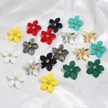 Flatfoosie модные милые серьги-гвоздики с цветами для женщин элегантные летние стильные серьги с цветком вишни вечерние женские ювелирные изделия