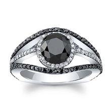 Ustar черные кубические циркониевые кольца с глазами для женщин