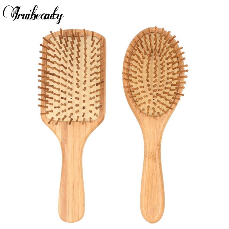 Natural Premium Wooden Bamboo Hair Brush Improve Hair Growth Wood Hairbrush Prevent Hair Loss Comb Bamboo Comb Teeth
